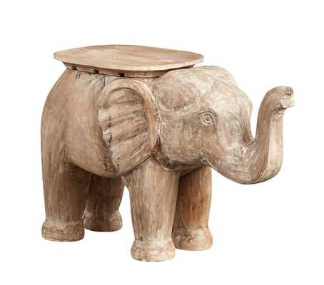 Elephant Side Table, Washed Natural, In-home - Pottery Barn Kids