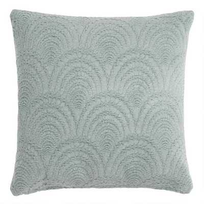 Sage Green Fan Jacquard Throw Pillow - World Market/Cost Plus