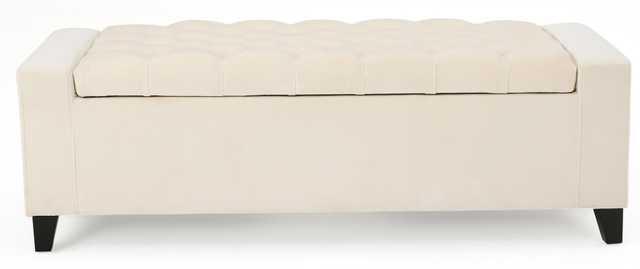 Ilchester Upholstered Storage Bench / Ivory - Wayfair