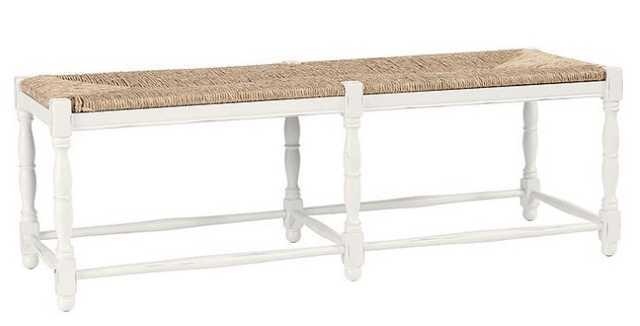 DORCHESTER 3-SEAT BENCH - Rubbed White - Ballard Designs