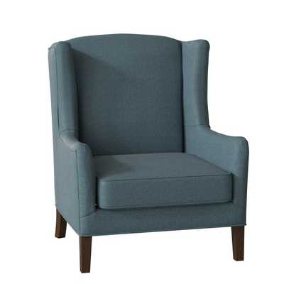 Wolfarth Wingback Chair - Lizzy Prussian - Birch Lane