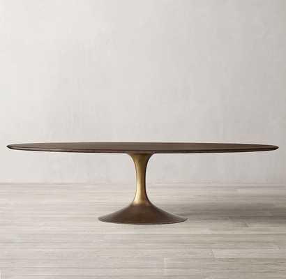 AERO WOOD OVAL DINING TABLE - RH Modern