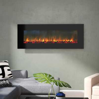 Quevedo No Heat Wall Mounted Electric Fireplace - Wayfair