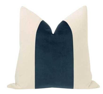 "PANEL :: Signature Velvet // Prussian Blue - 18"" X 18"" - Little Design Company"