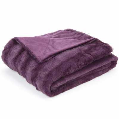 Caston Soft Faux Fur Blanket - Wayfair