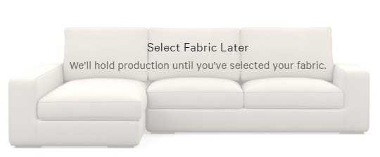 AINSLEY Sectional Sofa with Left Chaise - Decide Later fabric - Interior Define
