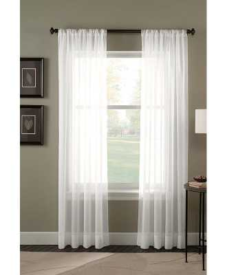Crushed Sheer Voile Solid Sheer Rod Pocket Single Curtain Panel - Wayfair