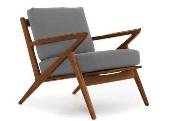 Soto Concave Arm Chair in Key Largo Ash - Joybird