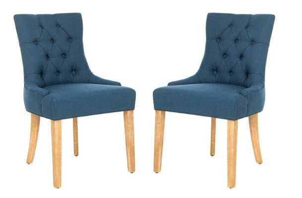 Abby 19''H Tufted Side Chairs (Set Of 2) - Steel Blue/White Wash - Arlo Home - Arlo Home