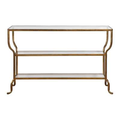 Deline Gold Console Table - Hudsonhill Foundry