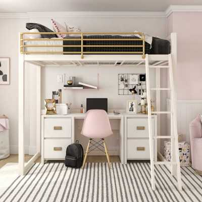 Monarch Hill Haven Metal Twin Loft Bed - Wayfair