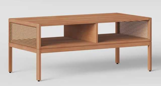 "54"" Minsmere Caned Coffee Table/ TV Stand Natural Brown - Opalhouse™ - Target"