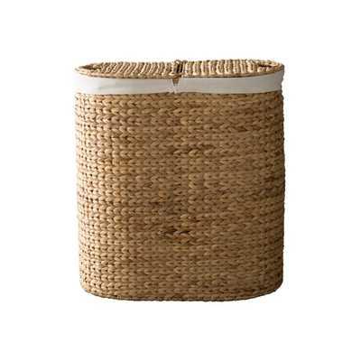 Oval Double Wicker Laundry Hamper - Wayfair