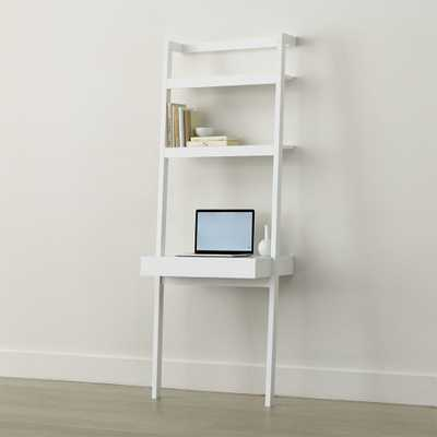 Sawyer White Leaning Desk - Crate and Barrel