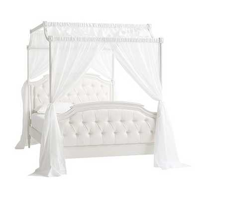 Blythe Tufted Canopy Bed, Full, French White - Pottery Barn Kids