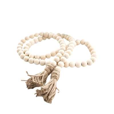 Vosarea Wood Bead Garland with Tassels Farmhouse Beads Rustic Country Decor - Amazon