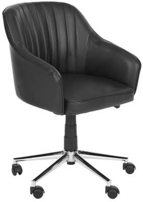 Hilda Desk Chair - Black/Silver - Arlo Home - Arlo Home