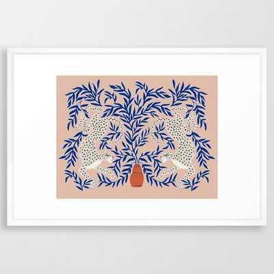 Leopard Vase Framed Art Print - Society6