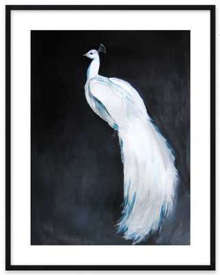 White Peacock II - Contemporary Black Wood Frame - Artfully Walls