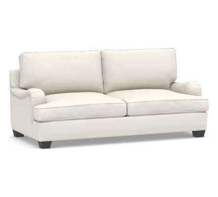 PB English Arm Upholstered Sleeper Sofa, Box Edge Polyester Wrapped Cushions, Performance Twill Warm White - Pottery Barn