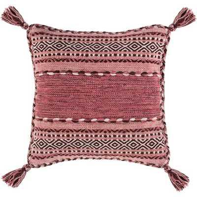 "Azariah Pillow, 20""x 20"", Pink - Roam Common"