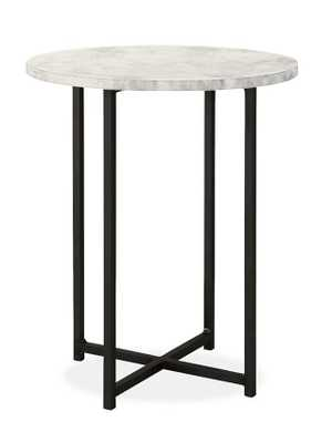 Classic 18 diam 22h Round End Table in Natural Steel - Room & Board