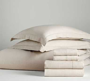 Belgian Linen Bed in a Bag, Queen, Flax - Pottery Barn