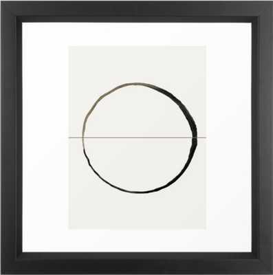 """C7 Framed Art -22"""" x 22"""" - VECTOR BLACK  Frame - With Mat - Society6"""