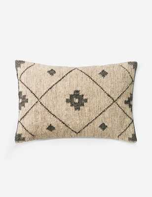 "Marsie Lumbar Pillow, Beige and Black, ED Ellen DeGeneres Crafted by Loloi 21"" x 13"" - Lulu and Georgia"
