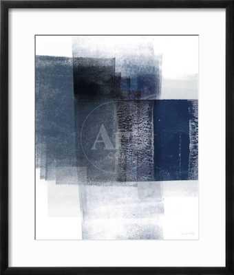 "Blue Abstract II 18 x 24"" chelsea black frame - art.com"