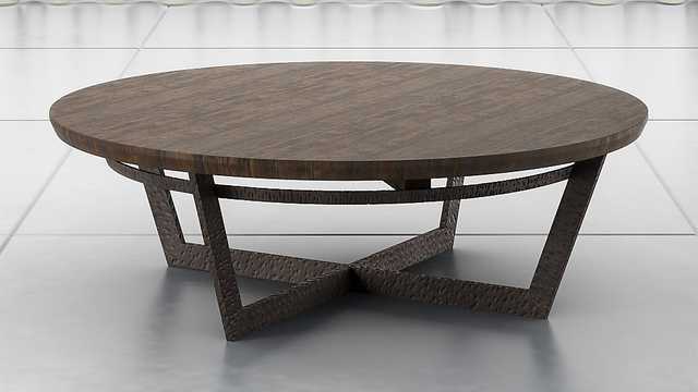 Verdad Wood Top Coffee Table - Crate and Barrel