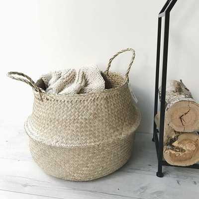 Natural Seagrass Belly Wicker Basket - Wayfair
