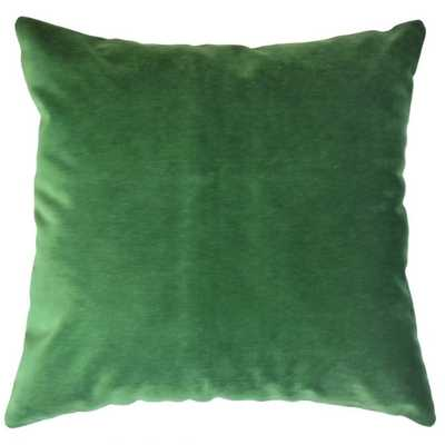 """CALYSE SOLID THROW PILLOW EMERALD WITH POLY INSERT - 20"""" x 20"""" - Linen & Seam"""