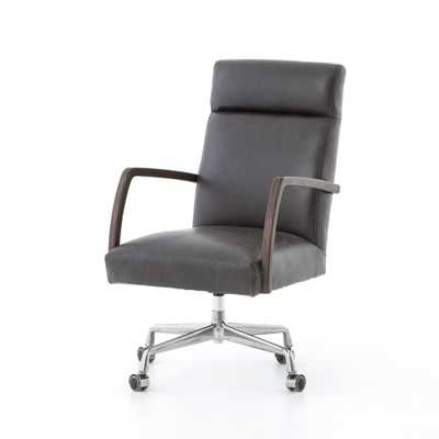 Bryson Desk Chair in Chaps Ebony - Burke Decor