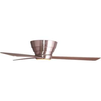"Stainless Steel with Silver Blades 54"" Malik 3 Blade LED Ceiling Fan with Remote, Light Kit Included - Wayfair"