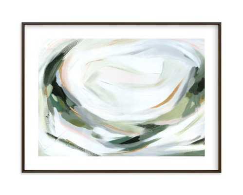 "Abstract Laurel  FRAMED ART PRINT-  18"" X 24""- Metal Black - Minted"