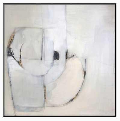 """Subtle Sketch II - Canvas and black frame 25"""" x25"""" - art.com"""