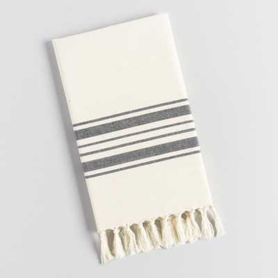 Black Villa Stripe Kitchen Towel - Cotton by World Market - World Market/Cost Plus