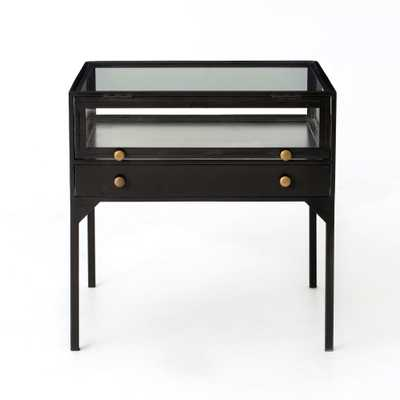 Orso Shadow Box End Table in Black by BD Studio - Burke Decor