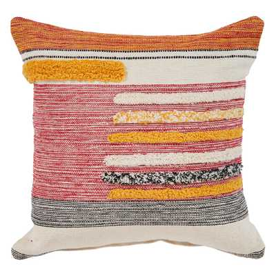 Eclectic Lined Multi Natural 18 in. x 18 in. Square Throw Standard Pillow - Home Depot