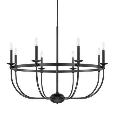 SIMPLY BLACK BASKET CHANDELIER - 8 LIGHT - Shades of Light