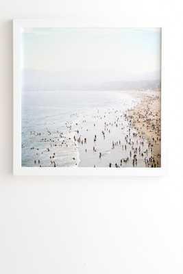 LA SUMMER White Framed Wall Art By Bree Madden -20''x20'' - Wander Print Co.