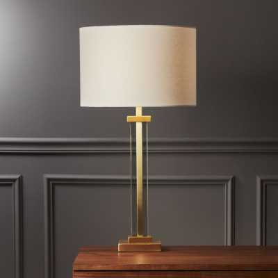 Panes Glass and Brass Table Lamp - CB2