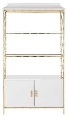 Adelia Lacquer Bookshelf - White Lacquer - Arlo Home - Arlo Home