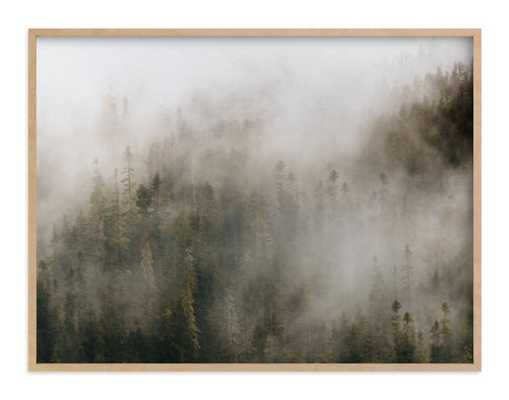pacific north fog - 40x30 - natural wood frame - Minted