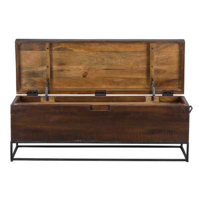 Rancho Mirage Wood Storage Bench - Wayfair