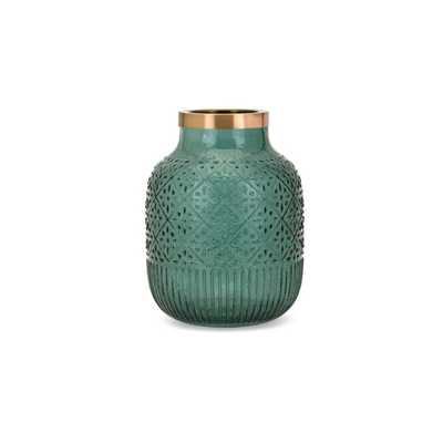 Caper Small Glass and Metal Vase - Mercer Collection