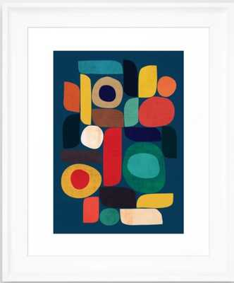 Miles and miles Framed Art Print Scoop white - Society6