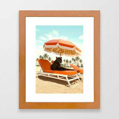Miami Beach Framed Art Print - Society6