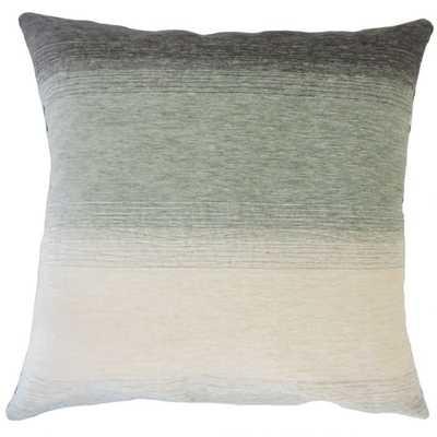 Vasska Ombre Pillow/Rain - 18x18 - Down Insert - Linen & Seam
